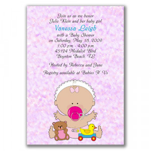 Cute Baby Shower Invitations: Girl