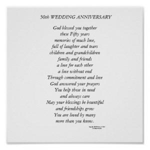 50 year wedding anniversary poems