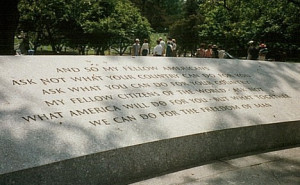 JFK Quote at Arlington National Cemetery