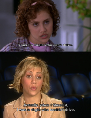 Brittany Murphy You're a Virgin Who Can't Drive Quote In Clueless