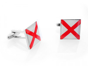 USA Flag Cufflinks, Tie Bars & Key Rings » Alabaman Cross