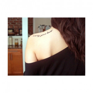 Shoulder Quote Heart Tattoo Black And White Tattoos Best Tats