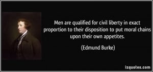 Men are qualified for civil liberty in exact proportion to their ...