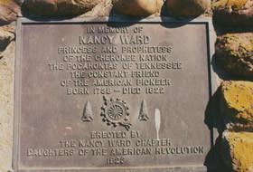 Leading figure of the southeastern Cherokee, Nanye-hi, or Nancy Ward ...