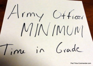 Army Officer Minimum Time in Grade Requirements