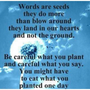 Plant your good seed.