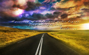 Abstract Clouds Nature Dawn Quotes Journey Roads Skyscapes Confucius ...