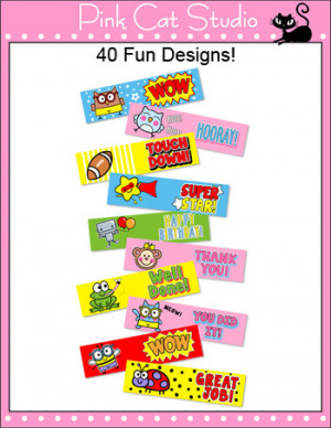 Behavior Management Pencil Stickers - Motivational Sayings and Fun ...