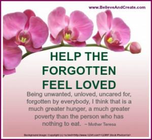 Help the Forgotten Feel Loved!