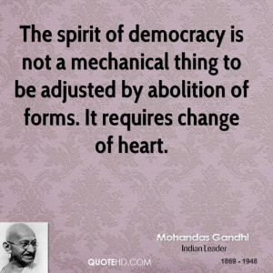 ... to be adjusted by abolition of forms. It requires change of heart