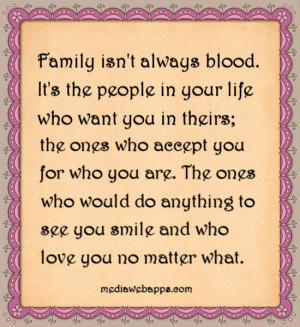 Family Is Not Blood Quotes
