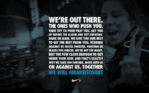 quote. #motivational Makeitcount Nike, Nike Motivation, Nike Quotes ...