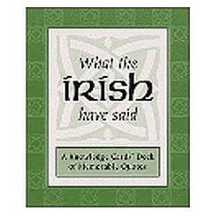irish quotes cards over 50 cards featuring famous quotations and a ...
