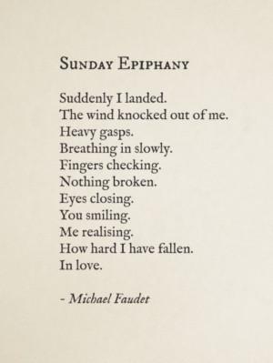 Sunday Epiphany~ Michael Faudet