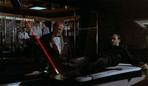 James Bond to Auric Goldfinger, as he is about to be cut in half by a ...