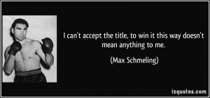 can't accept the title, to win it this way doesn't mean anything to ...