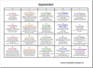 Preschool Plan For September