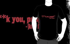 ... › Portfolio › F**k you puppet Alex Lifeson CENSORED quote (red