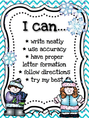 This pack includes writing in a winter theme. It also includes quotes ...