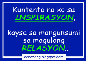 Tagalog Quotes Patama Sa Ex Kuntento na ko sa inspirasyon,