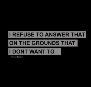 Harvey Specter Quote Art Print