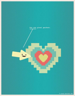 ... love-filled geeky illustrations to express love in nerd's style