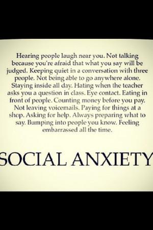 Bad Social, Anxiety Personalized, Life, Quotes, Social Phobias, Social ...