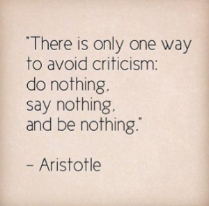 Have you ever had someone criticize you only to be left feeling ...