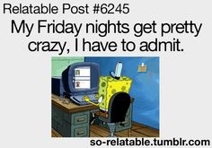 funny spongebob friday night quote