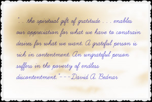 Back > Quotes For > Lds Gratitude Quotes