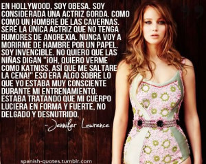 Spanish quotes, sayings, cute, jennifer lawrence