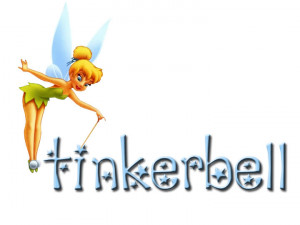 Tinkerbell over Name Image