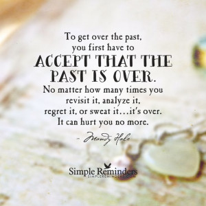 Get over the past by Mandy Hale