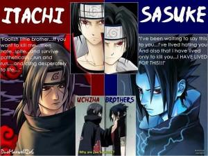 sasuke and itachi brotherly love lol Image