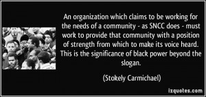An organization which claims to be working for the needs of a ...