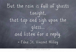 Tablet, Quotes Poetry, Ghosts Tonight, Edna St. Vincent Millay Quotes ...