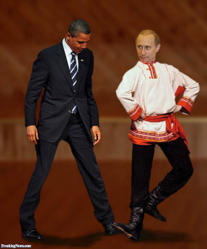 Barack Obama Dancing with Vladimir Putin