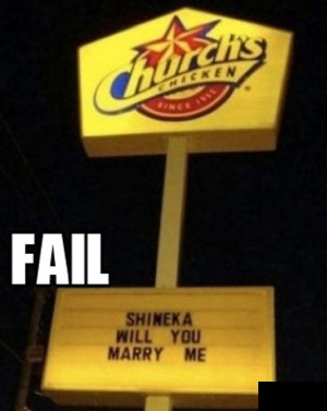 Marriage Proposal Fail