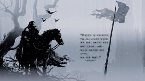 dark fantasy warrior grim reaper wallpaper background