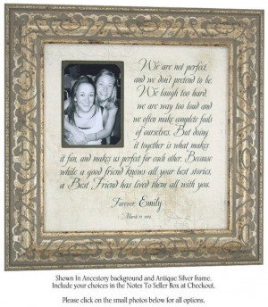 Best Friends Maid Of Honor Sister Personalized Picture Frame sign ...