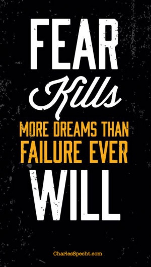 Nobody likes to fail But overcoming fear and overcoming failure are