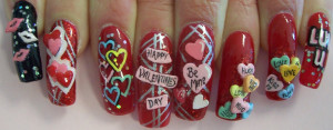 3d nail designs for valentines day valentines day nails deisgn