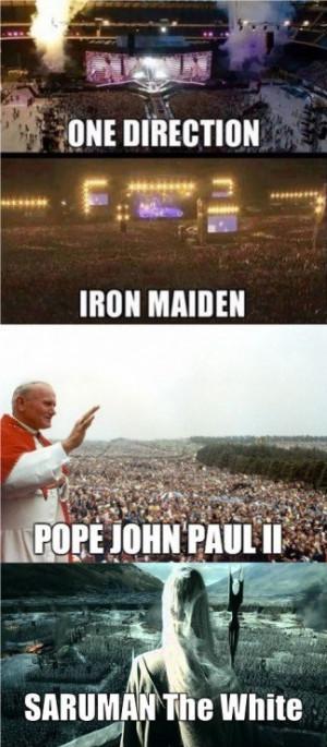 One Direction Eminem Metallica Saruman