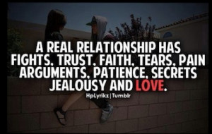 real relationship love picture quote