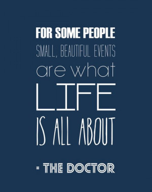 Doctor Who Inspirational Quote Typography Print