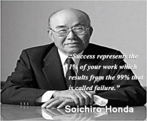 Soichiro Honda's Quote on Success and Motivation