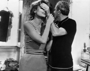 Still of Jules Dassin and Melina Mercouri in Never on Sunday (1960)