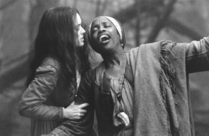 Still of Winona Ryder and Charlayne Woodard in The Crucible