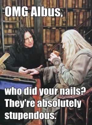 albus dumbledore, funny, harry potter, severus, snape