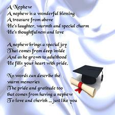 Personalised Coaster - Nephew Poem - Gr aduate Design + FR EE GIFT BOX